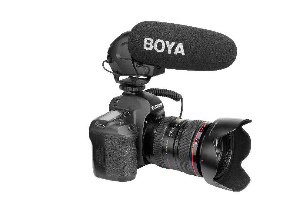 BOYA BM3030 condensateur professionnel Microphone sur caméra micro filaire 3.5mm enregistrement Studio voix pour Nikon Sony Canon Youtube
