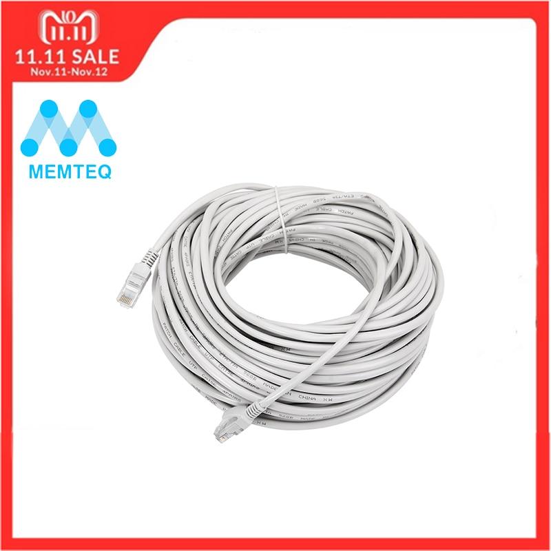 MEMTEQ Ethernet Cable 100FT 30m Cat 5e Ethernet Cable RJ45 Cat5e Network LAN Internet Patch Lead White for PC Router Laptop belkin fastcat 5e snagless patch cable rj45 connectors 7 ft gray page 8