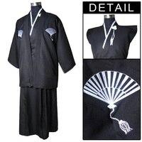 Free Shipping Black Vintage Japanese Men S Kimono Warrior Yukata Haori Dress One Size Factory Price