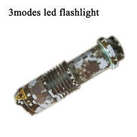 Super brillante Mini linterna LED CREE Q5 2000LM Zoomable táctico linterna Antorcha de la lámpara de luz led a prueba de agua para deportes al aire libre
