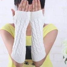 Pop Women Men's Gloves Arm Warmer Long Fingerless knit Mitten Winter Gloves Pair