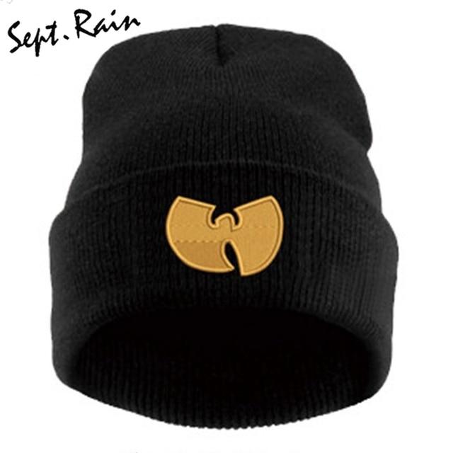 Gorra De mujer con WU TANG CLAN cálidos sombreros De invierno para Mujeres Hombres  gorro tejido aa034ffcdd49