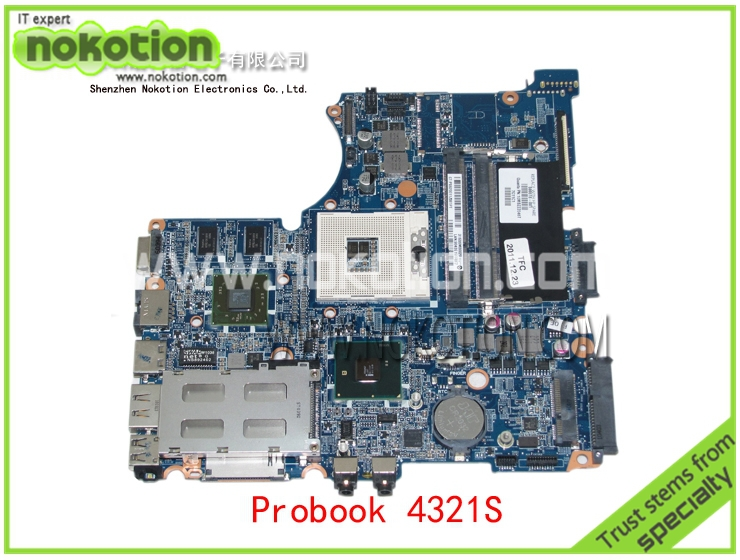 NOKOTION 599518-001 Laptop motherboard For HP Compaq probook 4321S 4420S 4421S Mobility Radeon HD 5430 HM57 DDR3 Mainboard 654306 001 fit for hp probook 4535s series laptop motherboard 1gb ddr3 socket sf1 100% working