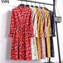 Yyfs 2019 вельветовое винтажное платье с высокой эластичной
