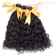 ALI BFF Malaysian Water Wave Hair 4 Bundles 100% Human Hair Weave Bundles Remy Hair Extensions Can Be Dyed(China)