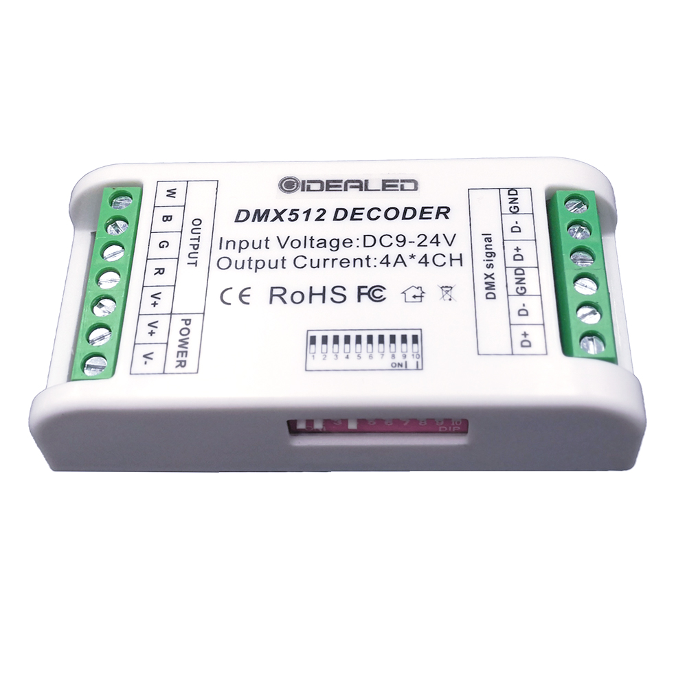 GIDEALED 3 Channel DMX RGB decoder 4 Channel DMX512 Decoder DMX dimmer driver for DC12V-24V led RGB strip Controller 36ch dmx512 dimmer controller 36 channel dmx decoder 13group rgb output led dmx512 driver max 3a xrl 3pin controller led strip