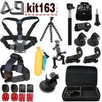 Gopro Accessories Set Go Pro Kit Mount SJCAM Go Pro Xiaomi Yi For Sony Act Cam