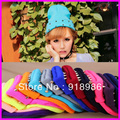 2016 New Fashion Winter Korean Punk Rivet Women's Cap  Fluorescent Colors Knitted Beanies Hats