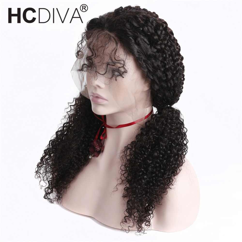 Kinky Curly Wig 13X4 Lace Front Human Hair Wigs For Women Remy Hair Brazilian Pre Plucked Lace frontal Wig With Baby Hair HCDIVA