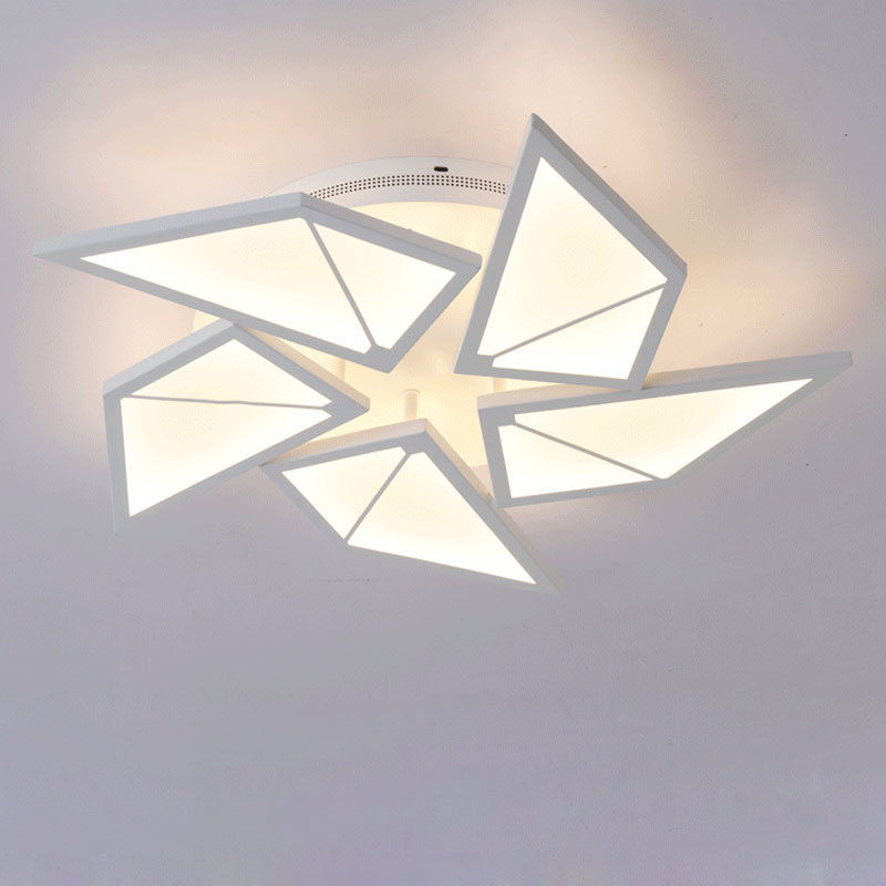 White Acrylic Lamp Modern Led Chandelier With Remote Control Living Room Kitchen Foyer Lustre Decor Home Lighting Fixtures 220V