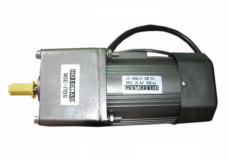 AC 220V 120W Single phase regulated speed motor with gearbox AC gear motor