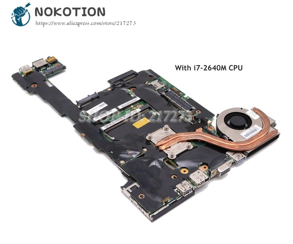 NOKOTION For Lenovo Thinkpad X220 X220I Laptop Motherboard I7-2640M CPU DDR3 04Y1834 Main BoardNOKOTION For Lenovo Thinkpad X220 X220I Laptop Motherboard I7-2640M CPU DDR3 04Y1834 Main Board