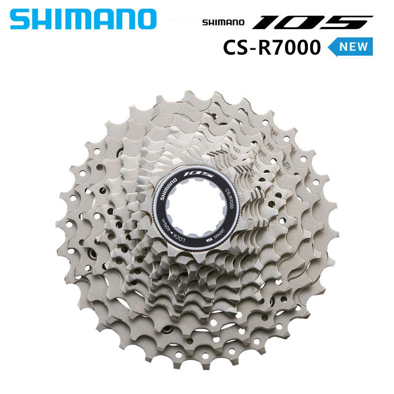 30//32 12-25 Shimano CS-R7000 Casete de Bicicleta 105 11-fach Plata 11-28