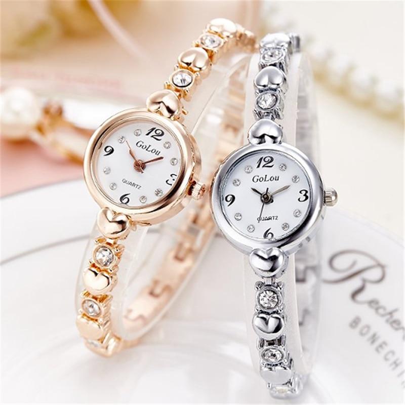 Women watch rhinestone rose gold quartz watches montre femme