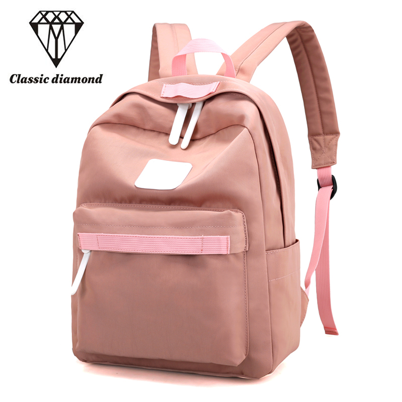 Women Canvas Backpack Black Bolsas Mochila Feminina Large Schoolbag Travel Bag School Backpacks For Teenagers Girls Candy Pink canvas printing backpack women school bags for teenagers girls backpacks ladies bolsas mochila feminina black color