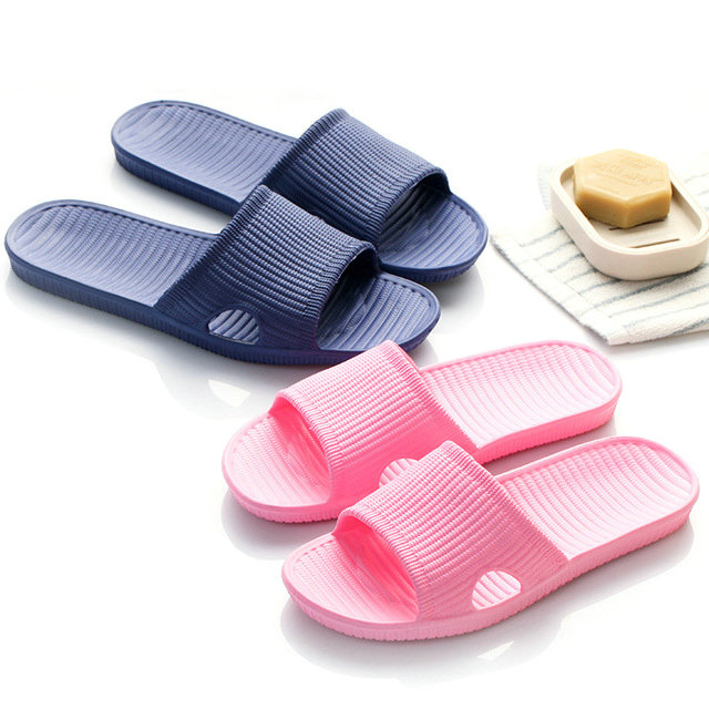 Cheap Price New Summer Home Bathroom Slippers Indoor Anti Slipper Soft Bottom Family Woman Man Slippers (14)