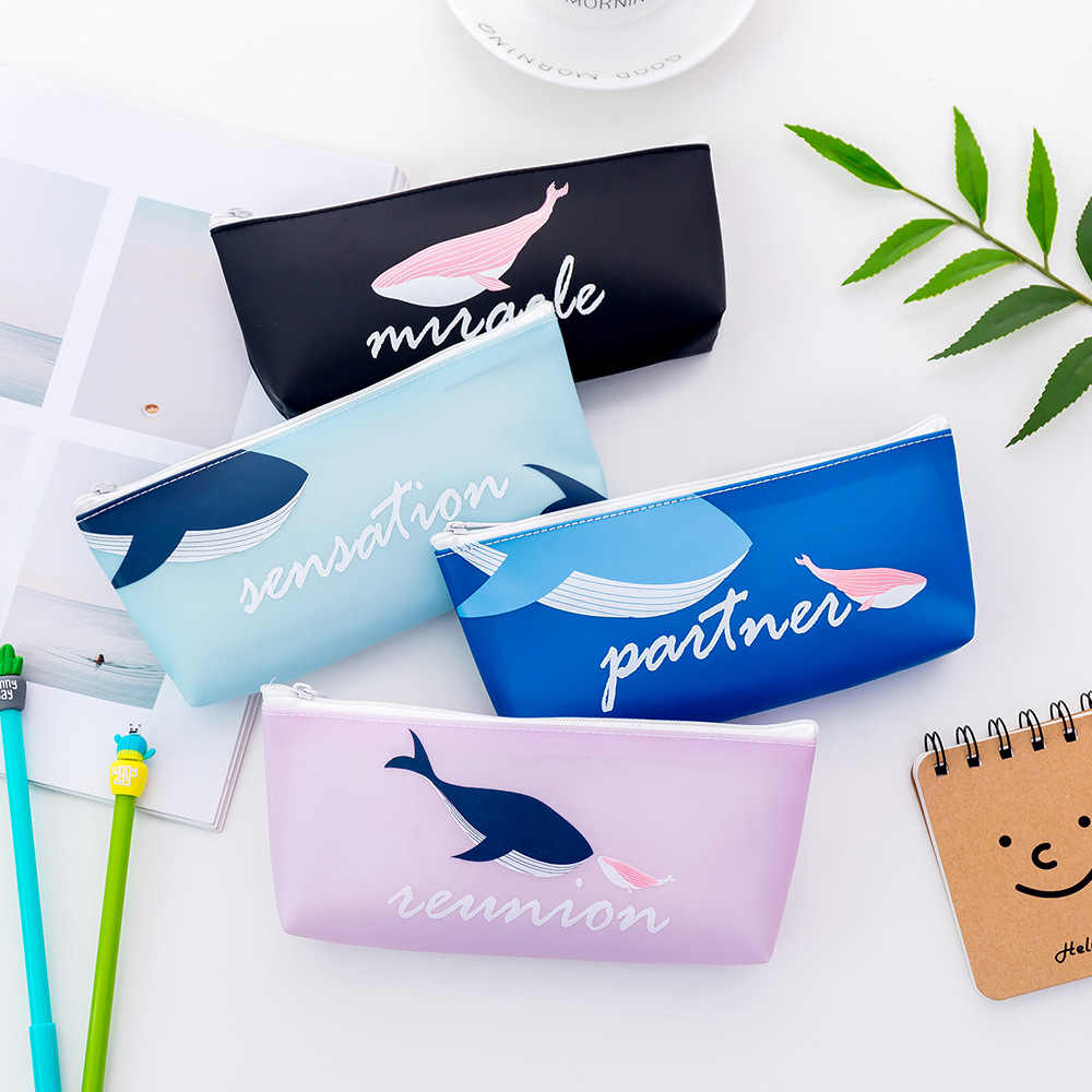 Cute Whale Print Women Coin Purse Mini Small Clutch Card Holder Bags Wallet Carteira Femme Feminina Mujer Girl Teenager Zip Bag