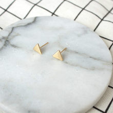 Earrings Fashion Jewelry Simple Mini Triangle Earrings For Women Gift Small Black All-match Stud Earrings Temperament Brincos(China)