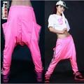 New fashion Jazz harem women hip hop sweatpants female dance loose strip costume trousers personality large pocket casual pants