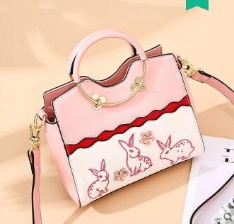 Princess sweet lolita bag Character embroidery Korean version fun circle single shoulder bag rabbit autumn women DML106 цена