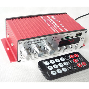 DC12V MA-120 мини автомобильный усилитель мощности компьютера маленький усилитель Мода MP3/USB/SD карта/FM стерео FM Усилитель