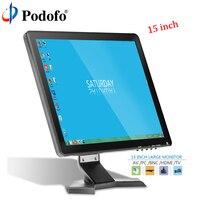 Podofo 10,1 ЖК дисплей HD монитор Мини ТВ и компьютер Цвет дисплея Экран 2 канала видео Вход мониторинга безопасности с Динамик VGA, HDMI