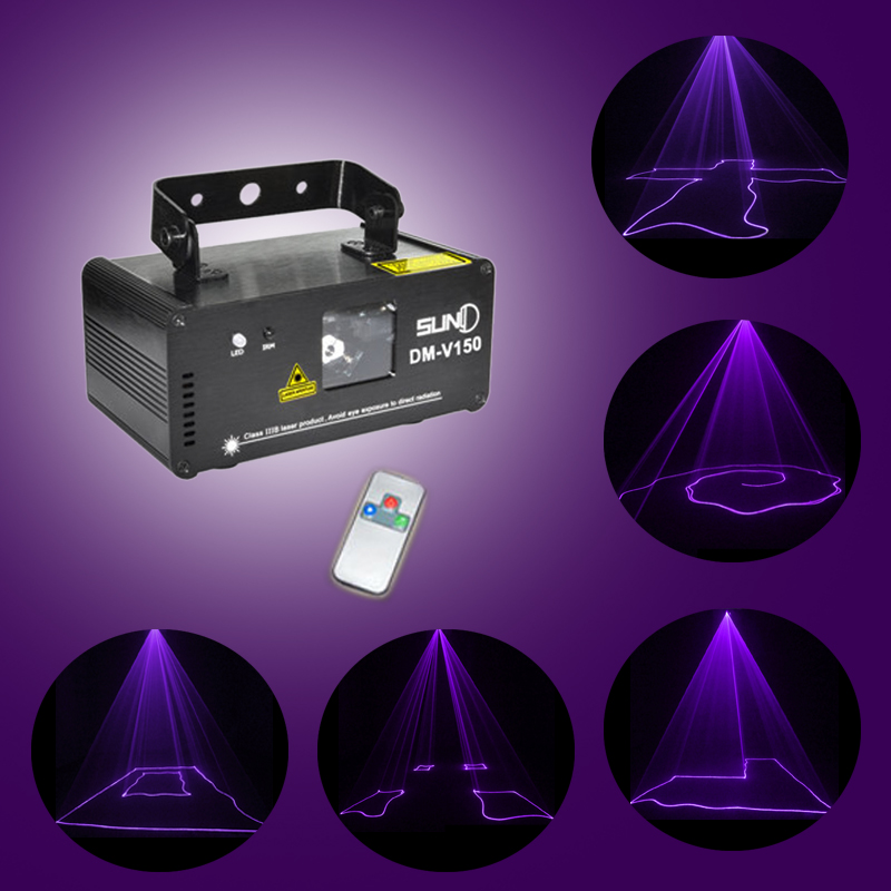DM V150 DMX Purple Laser Beam Stage DJ Pub Scanner Project Party Show Light