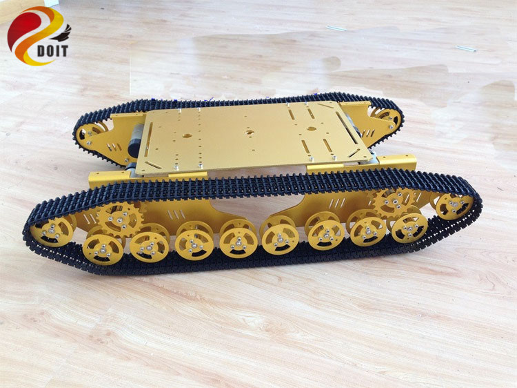 Official DOIT T800 4WD Metal Wall-E Tank Tracked Caterpillar Chassis doit rc t300 metal wall e tank chassis