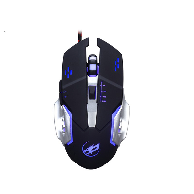 7Color LED 3200 DPI 6Button Wired Macro Definition Programming Gaming Mouse Mice Mouse Mini Mice USB Nano Receiver for Laptop pc