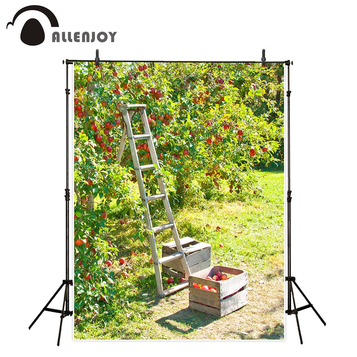 Allenjoy Background For Photo Studio Spring Orchard Fruit