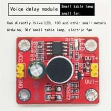 Voice-controlled delay module direct drive LED motor DIY small table lamp small electric fan(China)