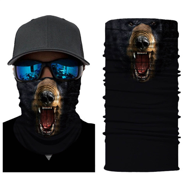 Seamless Skull Skeleton Joker Clown Balaclava Tube Motorcycle Neck Face Mask Scarf Bicycle Hunting Outdoor Ride Bandana Headband 5