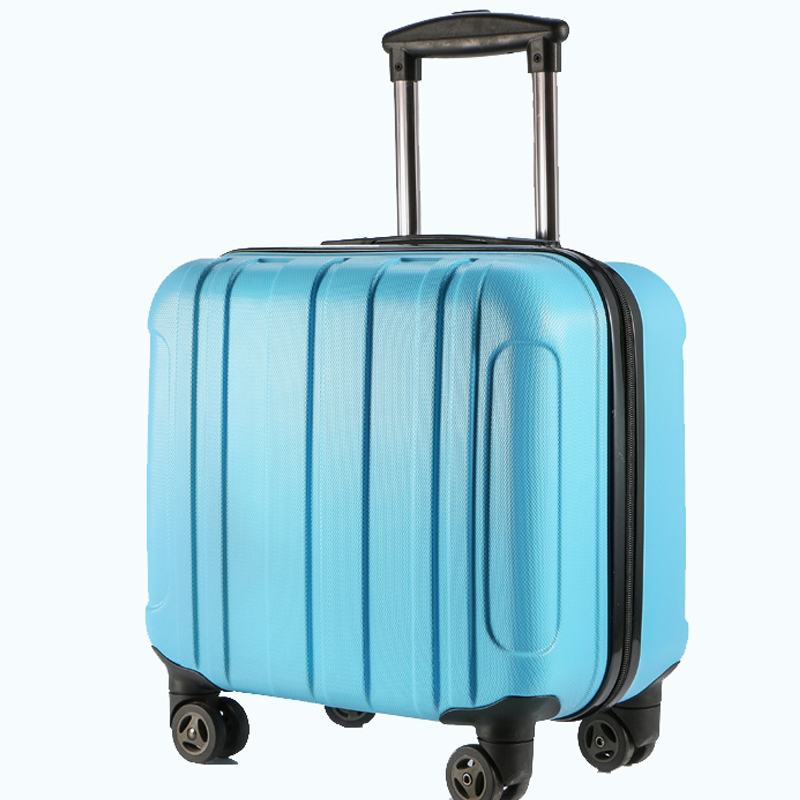new quality 2018 trolley case rolling wheel mounted chassis wear 16-inch suitcase waterproof travel case trolly luggage case