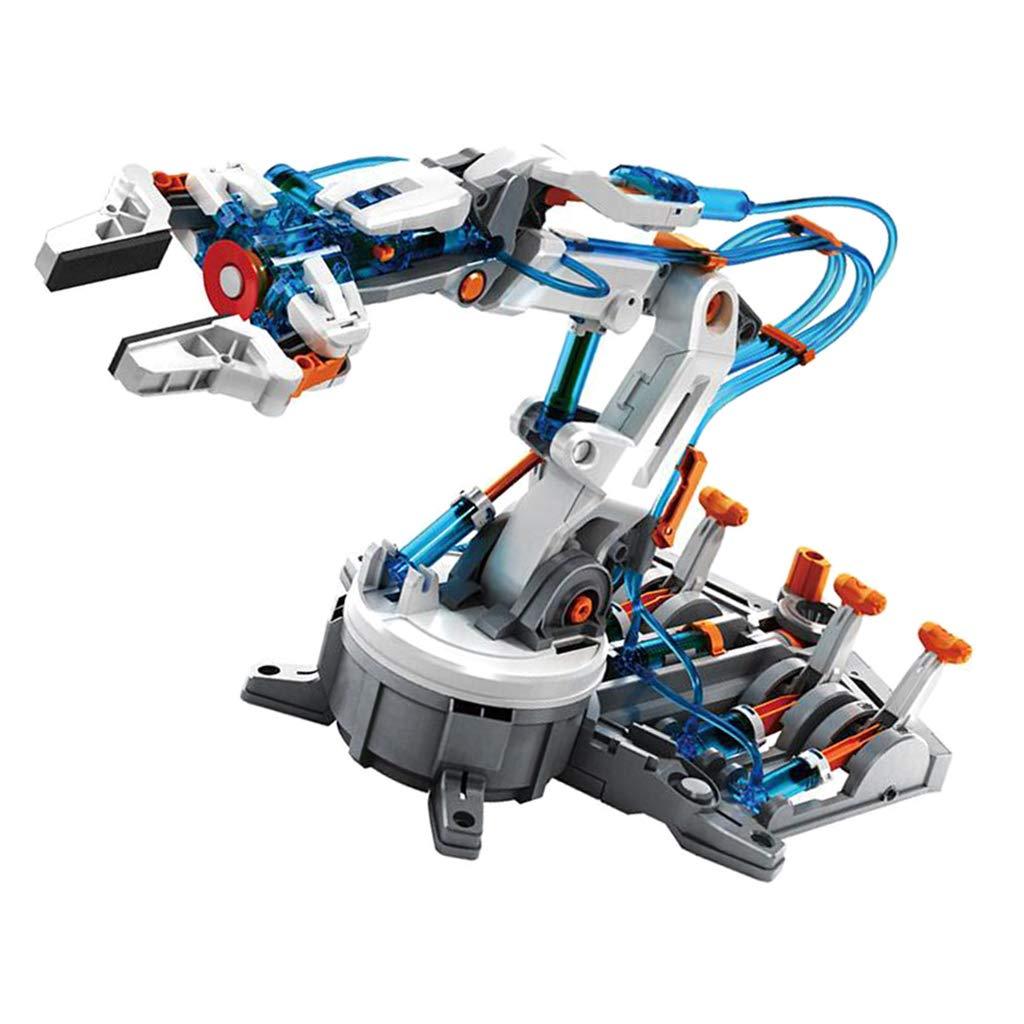 229 piezas DIY ensamblado acrílico 6-DOF hidráulico mecánico Robot brazo modelo para Arduino ciencia aprendizaje juguetes educativos regalo