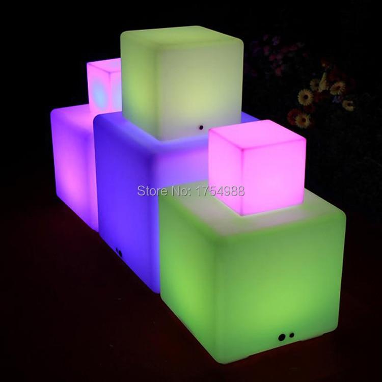 2015 free shipping Rechargeable Led Cube/Led Cube Seat/Led Glow Cube Stools Led Luminous Light Bar Stool Color Changeable