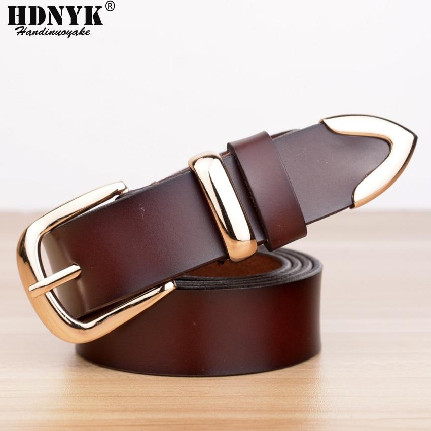 Prawdziwy Cowskin Leather Fashion Designer Belt Kobiety marki Belt - Akcesoria odzieżowe - Zdjęcie 3