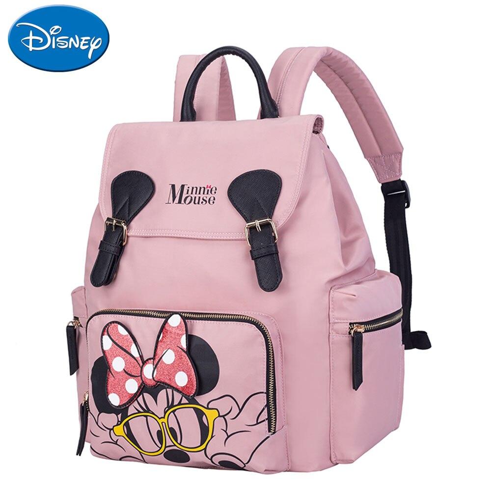Disney Minnie maman maternité Nappy sac à dos grande capacité imperméable bébé voyage poussette sac sac à langer pour les soins de bébé