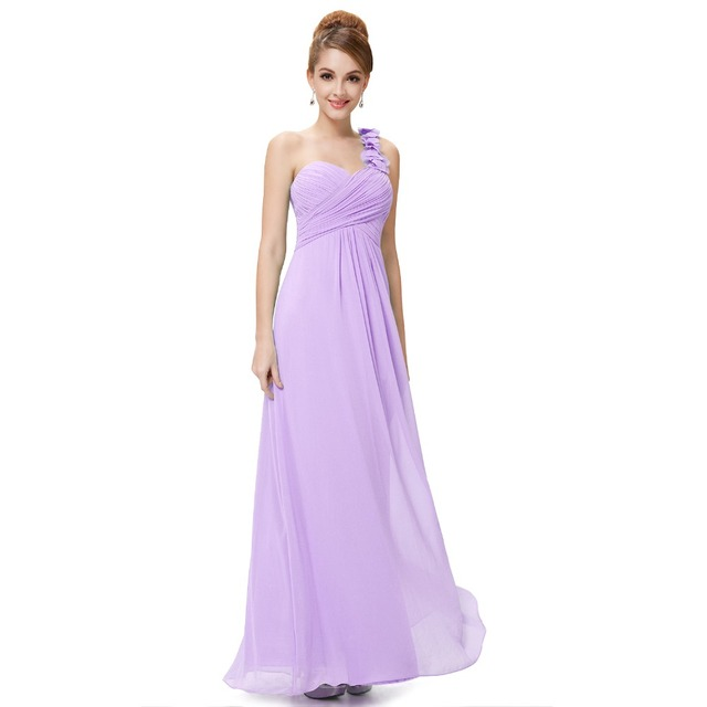 2c90a2c2a6 US $39.98 |[Clearance Sale] Long Evening Dresses Ever Pretty 9768 Flowers  One Shoulder Chiffon Padded 2018 Fast Shipping New Arrival-in Evening ...