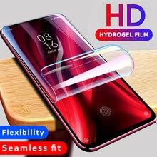Yumuşak hidrojel Film için Xiaomi Mi 9T Pro 10 tam kapak için Xiaomi Redmi K20 K30 Mi 10 Ultra pro Mi 10T Lite 5G ekran koruyucu