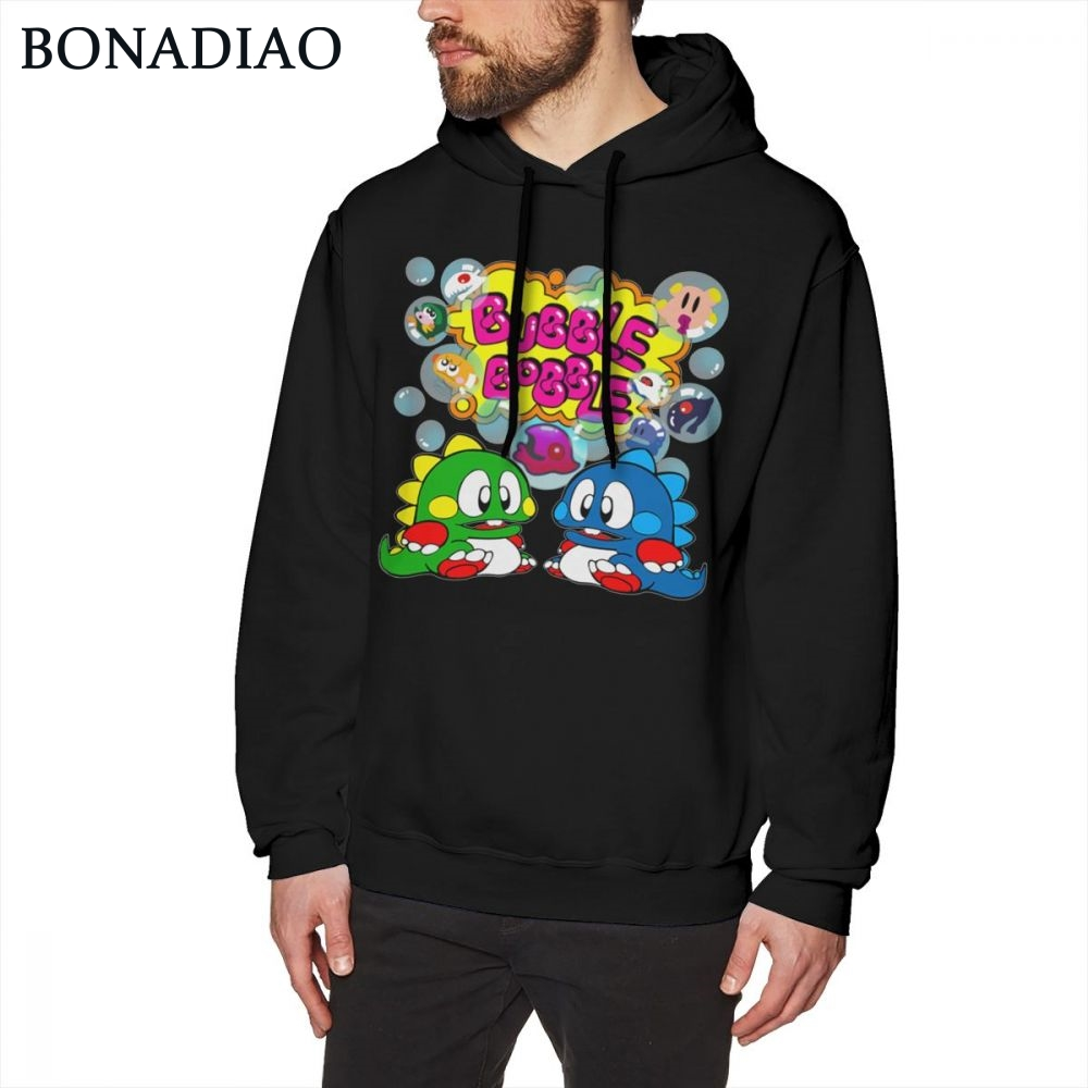 Old School FC Console Game Bubble Bobble Retro Long Sleeve Unisex Soft Hoodie Pure Cotton Casual Fashion Sweatshirt For Man