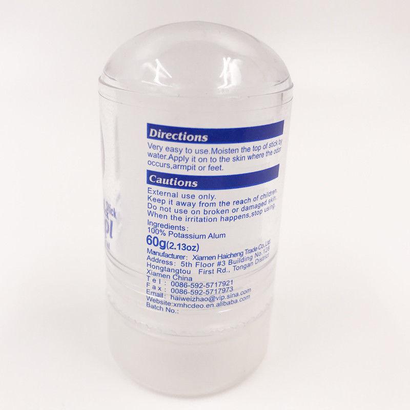 Women Dress Antiperspiran Non-Toxic Natural Food-Grade Crystal Deodorant Alum Stick Body Underarm Odor Remover Antiperspirant MD