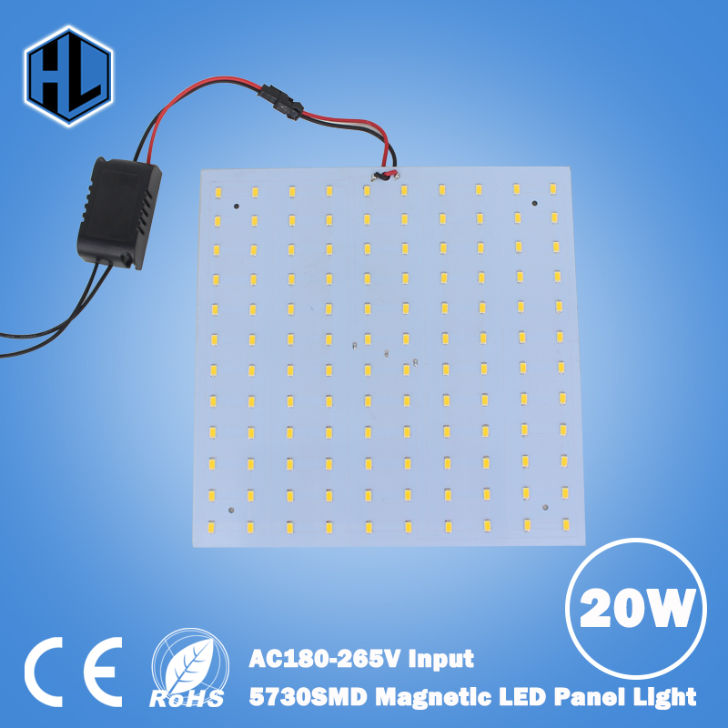 цены 180-265V Square Quadrate 20W SMD5730 Magnetic LED Ceiling Light Bulb LED Panel Lamps DIY replacement Accessories Ceiling Light