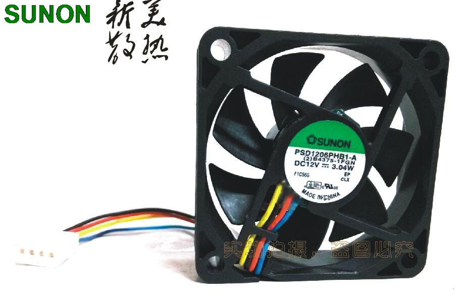 Genuine SUNON PSD1206PHB1-A 12V 3.04W 6015 <font><b>60</b></font>*<font><b>60</b></font>*15 <font><b>mm</b></font> axial case cooling <font><b>fan</b></font> image