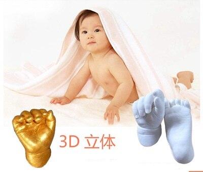 Fashionabl Baby 3d Hand & Foot Print Mold Powder Plaster Casting Kit Handprint Footprint Keepsake Gift Baby Growth Memorial