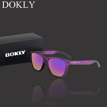 Dokly prawdziwe spolaryzowane okulary mężczyźni i kobiety spolaryzowane okulary kwadratowe okulary okulary óculos De Sol tanie tanio Okład Lustro UV400 Z tworzywa sztucznego Dla dorosłych 42mm 54mm Dokly02