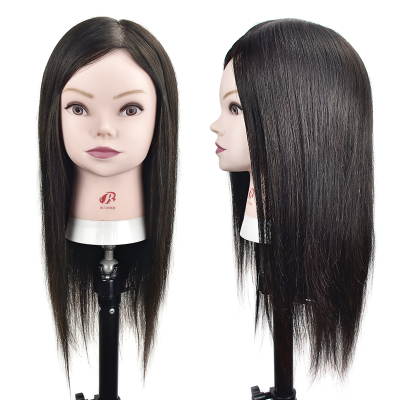 Wholesale Real Human Hair Mannequin Training Head can Be Curled Wig Head With Human Hair Hairdressing Training HeadWholesale Real Human Hair Mannequin Training Head can Be Curled Wig Head With Human Hair Hairdressing Training Head