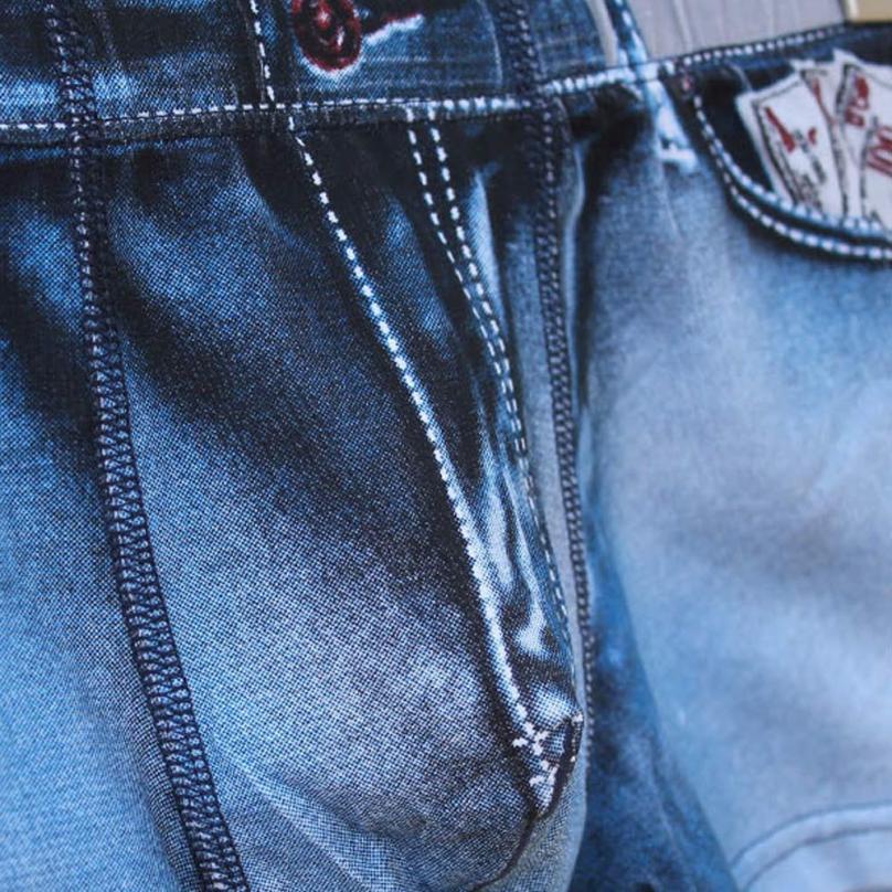 JAYCOSIN Men Cotton Spandex Shorts Jean Legging Boxer Sexy Underwear Drophsipping 0505
