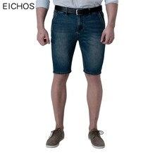 EICHOS Brand Short Jeans Men Thin Elasticity Jeans Slim Men 2017 Summer Casual Denim Shorts Male Plus Size 38 40 42 44 46 48