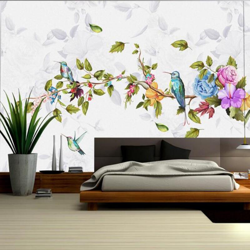 Baby Wallpaper Bird Wallpaper Minimalistic Hand Painted Flower Wall