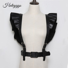 HATCYGGO Sexy Women Leather Belt Female Slim Body Bondage Cage Punk Harness Wais